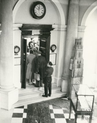 Bath Municipal Lending Library, Bridge Street, internal entrance, c.1950s