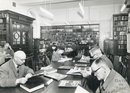 Bath Reference Library, Bridge Street, Bath, March, 1960