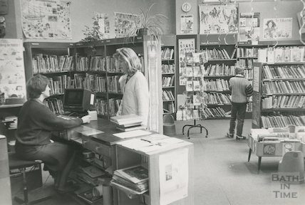 Lending Library, Bridge Street - children's library March, 1990 prior to move to podium