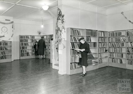 Junior Library interior, Newmarket Row, 1956