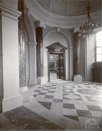 Vestibule and entrance, Victoria Art Gallery, Bridge Street, Bath c.1903