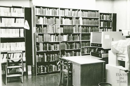 Reference Library, Queen Square - research room March, 1990 prior to move to Podium