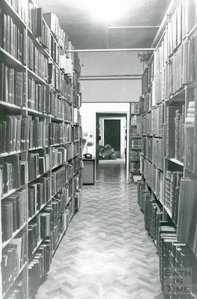 Reference Library, Queen Square - basement March, 1990 prior to move to Podium