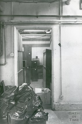 Reference Library, Queen Square - basement storage area March, 1990 prior to move to Podium