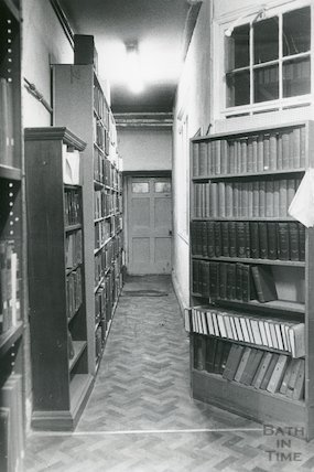 Reference Library, Queen Square - basement store March, 1990 prior to move to Podium