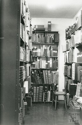 Reference Library, Queen Square - strong room March, 1990 prior to move to Podium