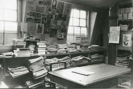 Reference Library, Queen Square - newspaper store room, top floor March, 1990 prior to move to Podium