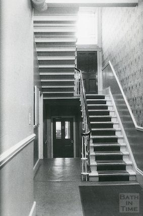 Reference Library, Queen Square - staircase March, 1990 prior to move to Podium