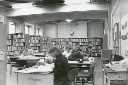 Reference Library, Queen Square - first floor December, 1989 prior to move to Podium