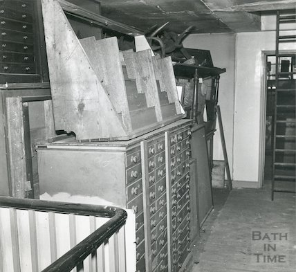 Bath Reference Library, Queen Square before conversion 2nd May, 1960