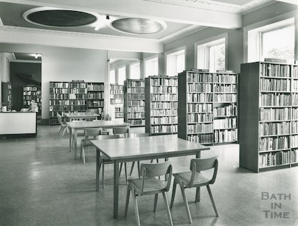 Bath Reference Library, Queen Square, 1966