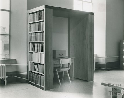 Reference Library, Queen Square - microfilm reader April, 1964