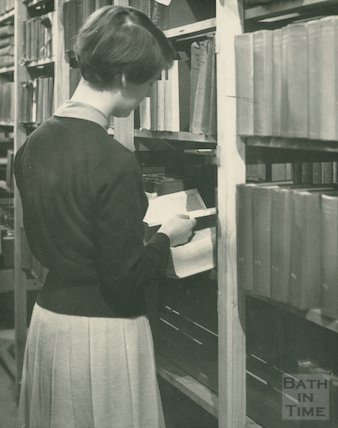 Bath Municipal Library routine staff work, c.1950s