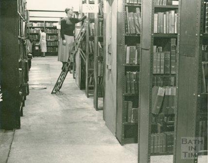 Bath Municipal Library routine staff work, c.1950s