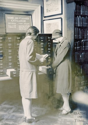 Bath Municipal Library routine staff work, c.1925