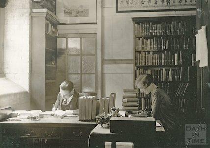 Bath Municipal Library routine staff work, c.1925