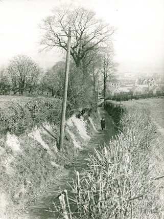 View down the Hollow, Twerton 12 April 1931