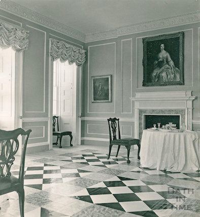 The newly restored interior of No1 Royal Crescent, 27 July 1970