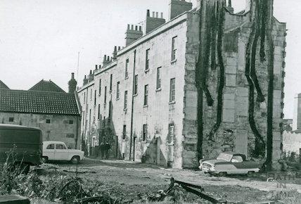 The rear of Waterloo Buildings, Widcombe, c.1960s
