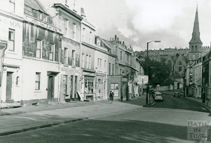 Shops on Widcombe Parade, Claverton Street, Bath c.1960s
