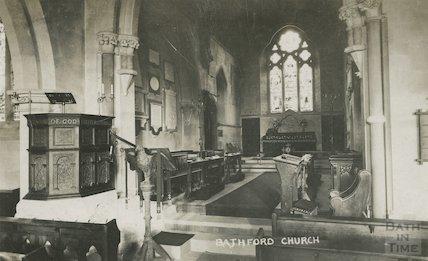 Interior of Bathford Church, c.1907