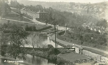 View of the Kennet and Avon Canal from Sydney Buildings, Widcombe, Bath No. 8 c.1920