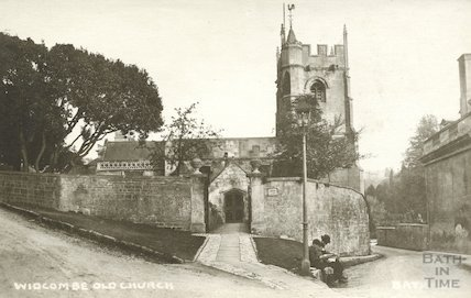 Old Widcombe Church from Church Road, c.1920s Bath no.36