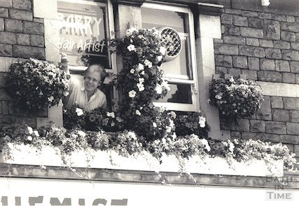 Well known local hairdresser Barry Cruse at Moorland Road, 7 July 1995