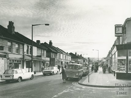 Local shops at Moorland Road, Oldfield Park, 7 December 1970