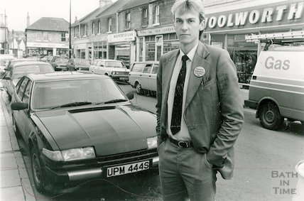 Robert Chivers (?) Manager of Woolworth Moorland Road, Oldfield Park, 19 October 1987