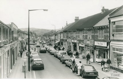 Local shops at Moorland Road, Oldfield Park, 1992