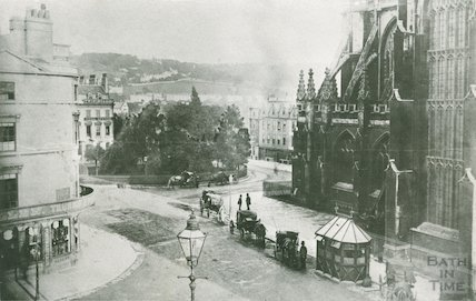 A very early view looking east of Orange Grove, Bath, c.1880s