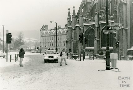 Orange Grove, Bath, in the snow, January 1987