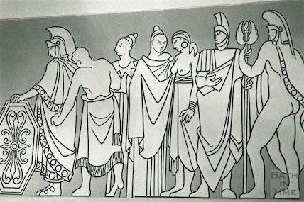 The Roman Frieze, the Forum, 21 January 1991 - detail