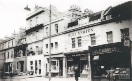 Copy of a photograph of Widcombe Parade, Claverton Street, Bath, c.1950s