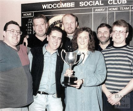 The darts team at the Widcombe Social Club, c.April 1995