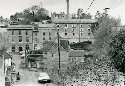 View of the Old Brewery, Freshford, 23 January 1993