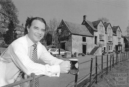 Stephen Turner, landlord of the Inn at Freshford, 27 April, 1995