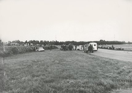An accident scene at Castle Combe Racing Circuit, 13 September 1971