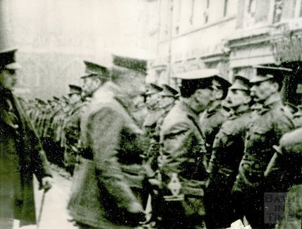 Military Parade on Bath High Street during WWI, c.1917