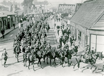 Military Parade on Midland Bridge Road, c.1914