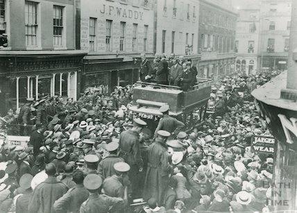 Peace Celebrations in New Bond Street, Bath, 1918