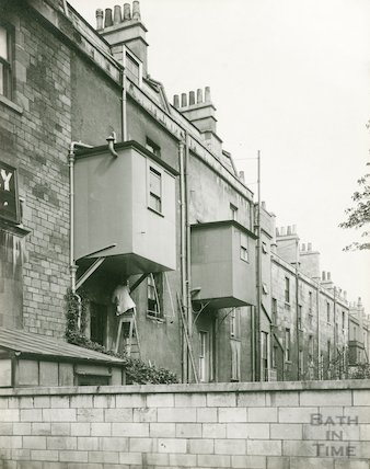 The rear of Daniel Street, Bath c.1930s