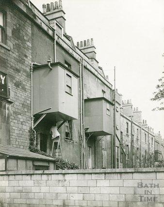 The rear of Daniel Street, Bath c.1930s