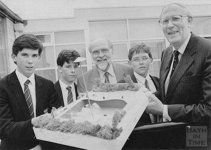 Sir Roger Bannister at Beechen Cliff School, Bath 7 July 1992