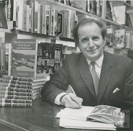 Author Kenneth Clew signing his latest book, 27 April 1970