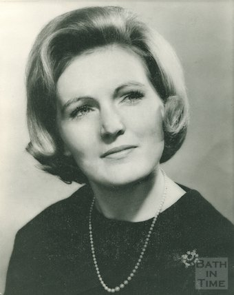 An early portrait of popular food writer and television presenter Mary Berry, 26 May 1966