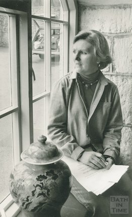 Portrait of food writer and television presenter Mary Berry, 23 April 1979