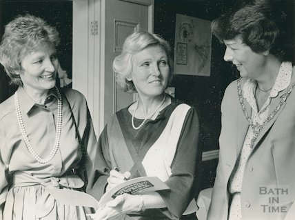 Portrait of food writer and television presenter Mary Berry at the Theatre Royal, 13 September 1984