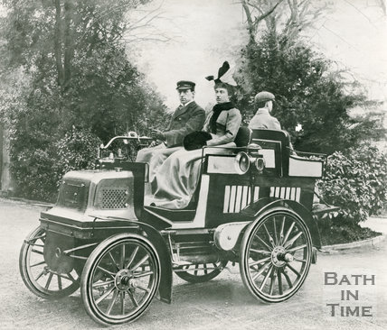 Mr and Mrs Ernest Pitman in their 6hp Daimler car, c.1900